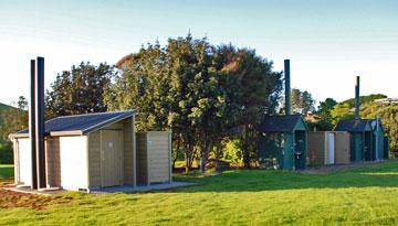 Toilet and shower facilities at the Otamure Bay campsite
