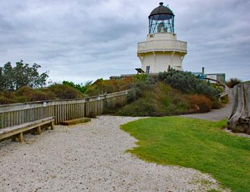 Manukau Heads Lighthouse near the top of the Awhitu Peninsula