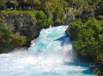 Listen to the thunder of the Huka Falls
