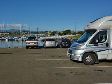Freedom Camping at Evans Bay Marina
