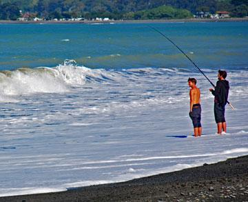 Fishing at Clifton Beach Reserve