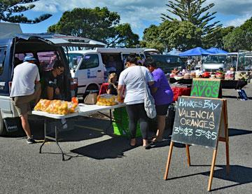 Sunday market in the Napier city carpark