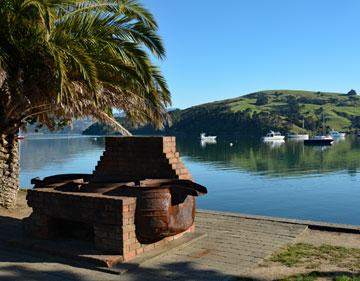 Large whale oil pot at Akaroa