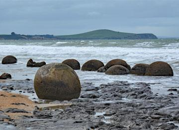Moeraki Bolders in South Otago