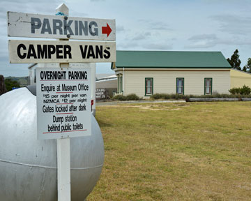 Campervan sign for overnight parking