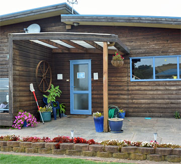Campsite office entrance