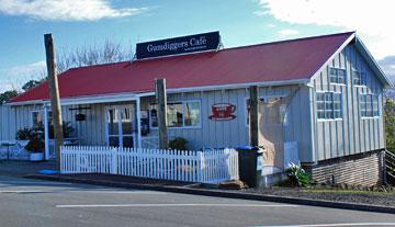 The Gumdiggers Cafe across the road