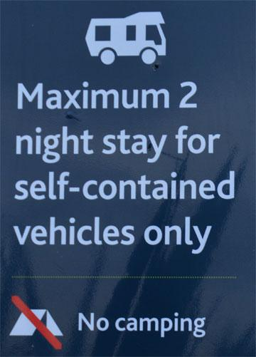 Freedom Camping sign
