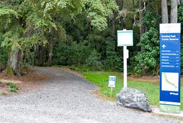 Entrance to the bush walks