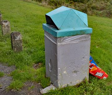 Council maintained rubbish bin