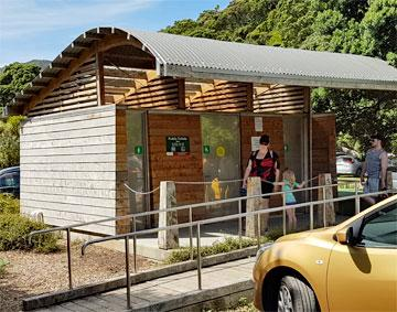Public toilets back at the reserve carpark
