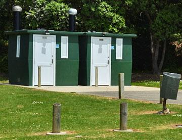Public toilets on the upper reserve