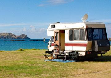 Motorhome waterfront parking