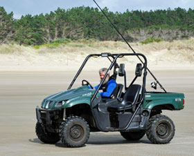 Beach buggy off to a fishing site