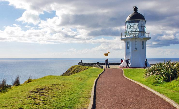 Approaching the Cape Reinga lighthouse