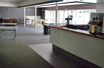Re-opened bar and social area currently being refurbished
