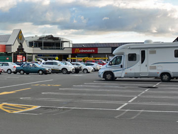 Shopping centre parking