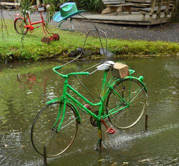 Water powered cyclist