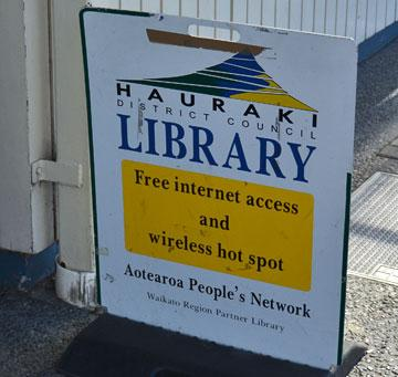 Entrance to the Library with free wifi