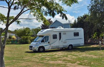 Motorhome parking on the reserve