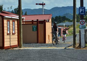 Cyclists on the Rail Trail