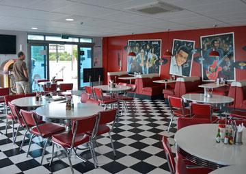 The diner seating area