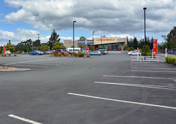New World parking area