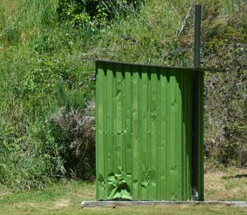 Tin shed public toilet