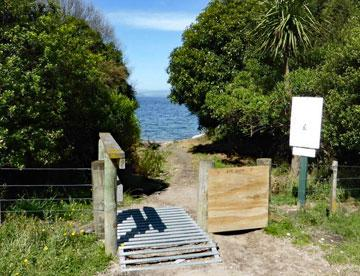 Entrance to the Lake Taupo