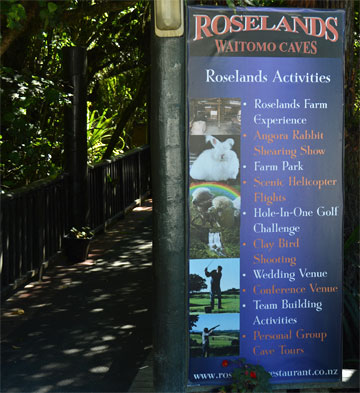 Entrance to Roselands Restaurant