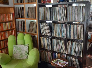 The vinyl record collection