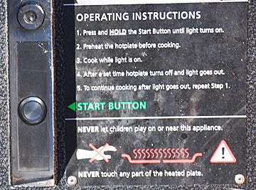 Instructions for using the barbeque