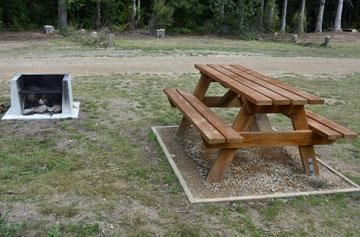 Barbeque and picnic table