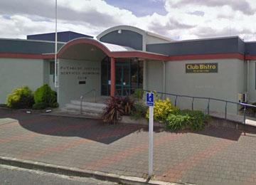 Main entrance to the Putaruru District Services Memorial Club