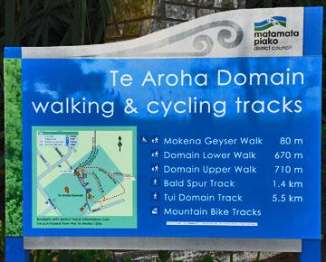 Walks and Cycle Trails in the Te Aroha Domain