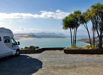 Parking with a view over Hokianga Harbour