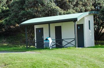 Clean toilet facilities at Te Arai Point