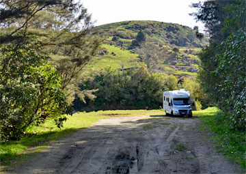 Motorhome parking in the reserve