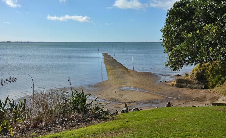 Boat ramp into the harbour