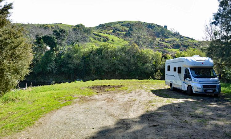 Motorhome parking area