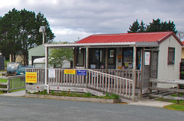 Reception at the entrance to the Ruakaka Beach Holiday Park