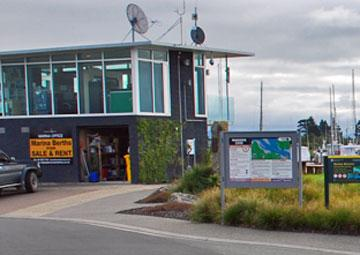 The Marsden Cove Marina office building
