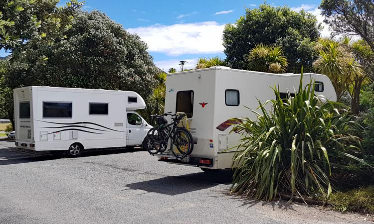 Motorhomes parking