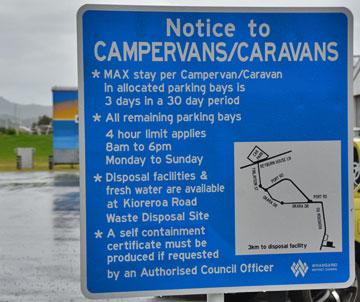 Campervans and Caravans sign