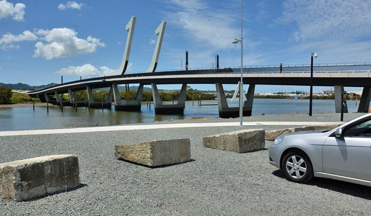 The Whangarei Bridge and carpark