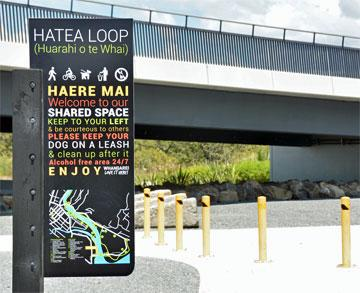 The Hatea Loop sign