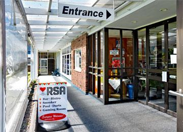 Entrance to the RSA Reception