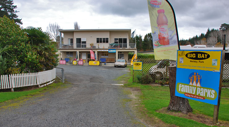 Big BAy Holiday Park entrance