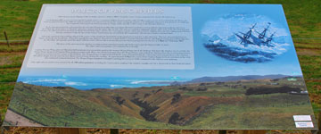 Plaque describing the wreck of the HMS Orpheus