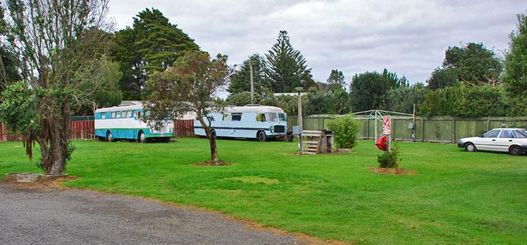 Campsite parking area